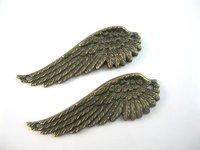 Zinc Alloy Wing Pendant Plated Vintage Bronze Dangle Loose Bead Pendant Jewelry Findings