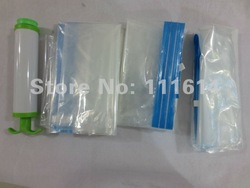 Free shipping New Space Saver Saving Storage Bag Vacuum Seal Compressed 60x80cm Organizer +air pump(China (Mainland))