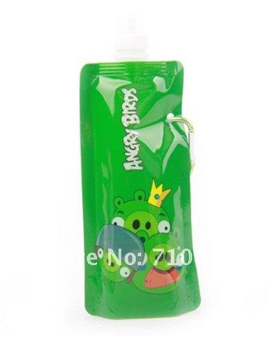 200pcs/lot wholesale Portable foldable sports water bottle 480ml Style random Free Shipping by DHL Fedex(China (Mainland))