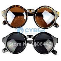 Free Shipping New Super Trendy Retro Round Frame Sunglasses Eyewear UV 400 Unisex Plate Frames b8 7279