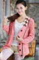 Free shipping ! 2012 autumn ladies sweater, knitted sweater , cute butterfly knot hollow design sweaters ,retail  women's jacket