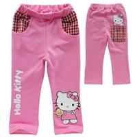 Autumn&Spring Kids Girl's Pants, Hello ketty Long Trousers, Children's Carton Pants, 100%Cotton,