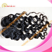 "Human virgin hair Brazilian hair middle part (3.5""*4"")top closure in stock"