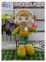 Best-selling 8inch cute girl baby doll Handmade plush kids toys Christmas gifts 21 style 10PCS/LOT Free shipping