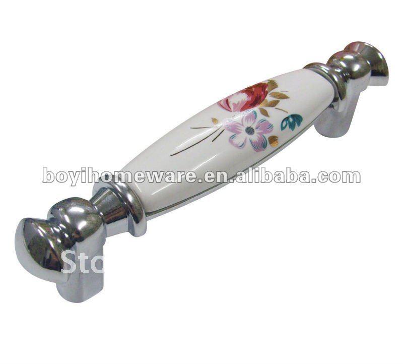 Fancy door handles and knobs/ kitchen hardware/ kitchen cupboard handles/ door knobs components wholesale 50pcs/lot CF09-PC(China (Mainland))