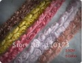 Free shipping 3.0CM width colorful ribbon blooms lace mix color for scrapbooking