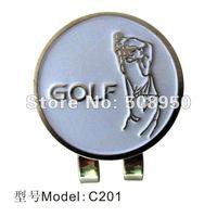 Unique Zinc Alloy  Golf  Ball  Marker & Hat Clip - 2012 Hot Sale Golf Promotional Gilf Wholesale