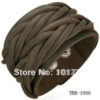 FREE SHIPMENT,fashion men's leather bracelet,braid leather bracelet,mens leather jewelry