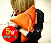 Fashion candy color small bags, tassel bag, vintage clutch bag,free shipping