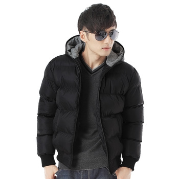 Free shipping/ jacket coat men's clothing slim cotton-padded jacket with a hood outerwear male cotton-padded