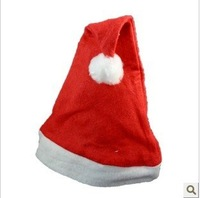 50 PCS Santa hats Adult ordinary red Christmas hat Christmas party decorations 26cmX37.5cm