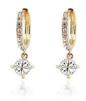 3 colors newest fashion white gold plated Zircon Rhinestone crystal drop Earrings women jewelry BP033