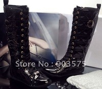 women flat high boots, knee high boots for women, genuine leather