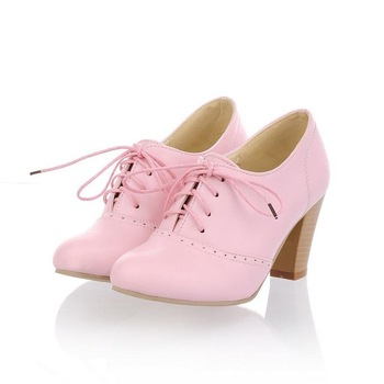 fashion lady's high heel shoes,  Vintage oxford shoes -zsyys0002