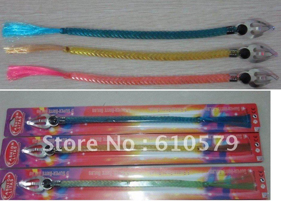 Wholesale -freight free Flash braid Flash hair LED bar party supplies Product Name: light braids 30pcs(China (Mainland))