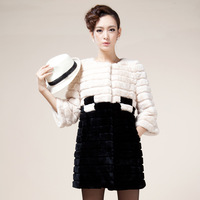 Chopop fur fashion 2012 winter top  female real fur coat large warmer fur jackets women clothing plus size  MS-C1293