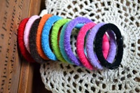H9 solid color plush accessories ultra elastic hair rope headband rubber band elastic headband hair accessory