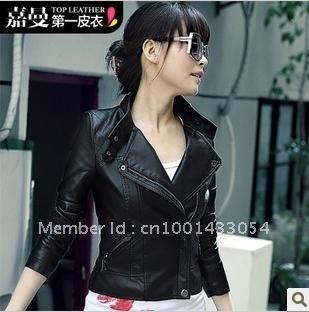 Jia mann 2012 autumn outfit new coat han2 ban3 short paragraph small leather dress coat jacket locomotive suit 1 g6011d0