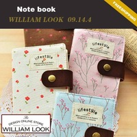 Min.order is $25 (mix order)stationery Floral canvas sketchbook diary book notepad notebook promotion gift william MMA09144