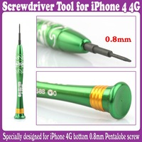 3pcs/Lot_Green Pentacle 5 Star pentalobe screwdriver Tool for i.Phone 4 4G_Free Shipping