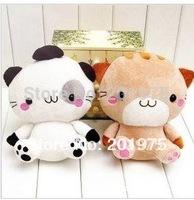 2014 hot sale Korean high quality big face cat Baby stuffed plush doll toys/children toys/wedding gifts 2pcs/lot