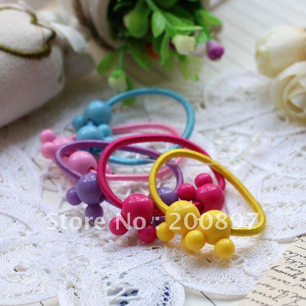 wholesale lovely kid mickey girl hairband headwear elastic hair bands 200pcs/lot(China (Mainland))