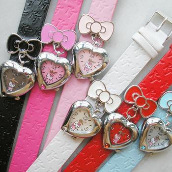 Hello kitty watch girl heart pendant HELLO KITTY watch