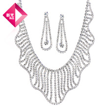 NEOGLORY accessories bling bridal necklace set accessories bridesmaid jewelry wedding supplies