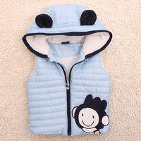 2012 child autumn male child thickening thermal vest children air layer vest