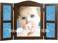 Baby  Photo Frame with DIY Handprint and Footprint Record your baby growing keepsake best gift to you friend
