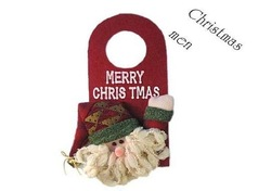 Freeshipping, new arrival, Santa Claus Christmas fabric decorations, gifts for kids, dropshipping, SHB002(China (Mainland))