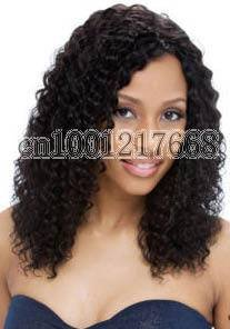 curly lace front wig virgin indian remy side part full