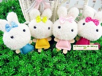 Rice ball rabbitcharm / Strap / Holder& Handbag Pendant / keychain/ Wholesale D9065