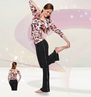 FREESHIPPING!2012 Ladies' Long Colorful 94%Cotton&Lycra Elastic Yoga Dress/Shirts&Pants Yoga Wear For Winter M/L/XL