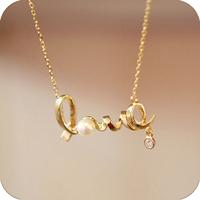 wholesale-alloy jewelry  necklack Small accessories unique love necklace
