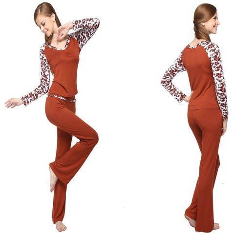 FREEN SHIPPING!Hot sale!2012 ladies' long dark red viscose elastic yoga ...