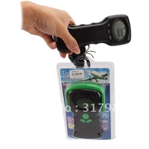 44Kg Electronic Digital LCD 2 in 1 Thermometer Travel Suitcase Scale(China (Mainland))