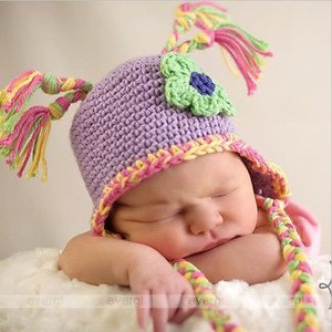 Infant Toddler Beanie baby Hat Cap Crochet Handmade Photography Prop Kid