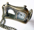 Recommend_Cartoon sewing machine pocket watch necklace vintage accessories necklace fashion watch Free Shipping