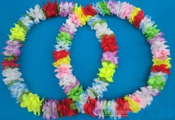 60cm Party/Christmas Supplies Hawaiian Flower Lei Hard Coil Wire Garland/Hawaii Wreath Cheerleading Products Hawaii HH8049