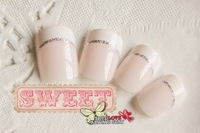 New arrival, elegant /cool french FALSE NAILS 24pcs./set,artificial nails,stricker tips