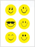 30mm variety facial expressions Sticker round smiley face stickers