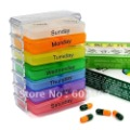 Free shipping Portable Drug Case Daily Medicine Pillbox Emergency Boxes  Random color