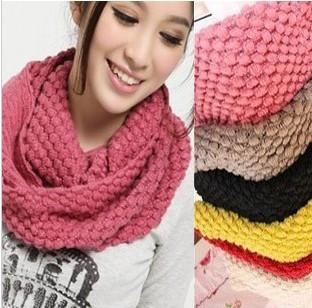 2012 Winter Knitted Crochet muffler scarf yarn general lovers scarf Warmer Pashmina XC-12