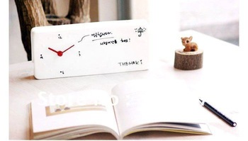 Free Shipping+Fast Delivery+High quality Message board alarm clock Memo clock