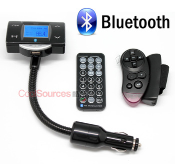 Car bluetooth hands-free car mp3 fm transmitter bluetooth fm stereo double remote control