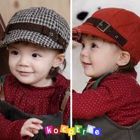Kocotree woolen plaid cap benn beret 2 00132