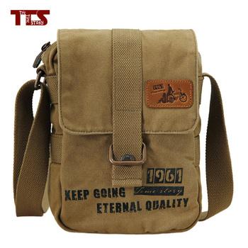 Canvas Shoulder bag, vintage washed canvas messenger bag Bronze Zipper cotton webbing unisex designer
