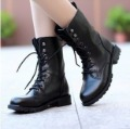 2012 free shipping Fashion vintage lacing martin motorcycle rivet medium-leg women's boots