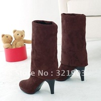 2012 fashion Brown  over-the-Knee High-heeled boots(Size 35-39)